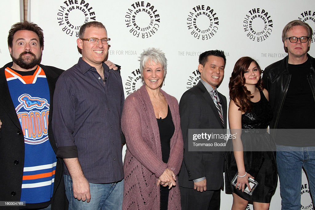 Kevin Smith, Bob Goodman, Andrea Romano, Jay Oliva, Ariel Winter and Bruce Timm attend The Paley Center for Media and Warner Bros. Home Entertainment present 'Batman: The Dark Knight Returns - Part 2' premiere held at The Paley Center for Media on January 28, 2013 in Beverly Hills, California.