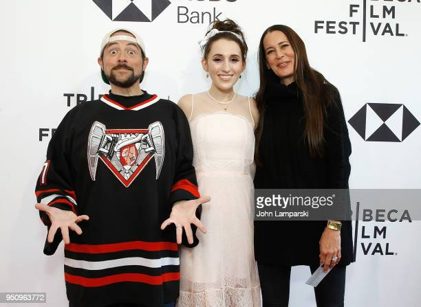 Kevin Smith Harley Quinn Smith and Jennifer Schwalbach attend All These Small Moments during the 2018 Tribeca Film Festival at SVA Theater on April...