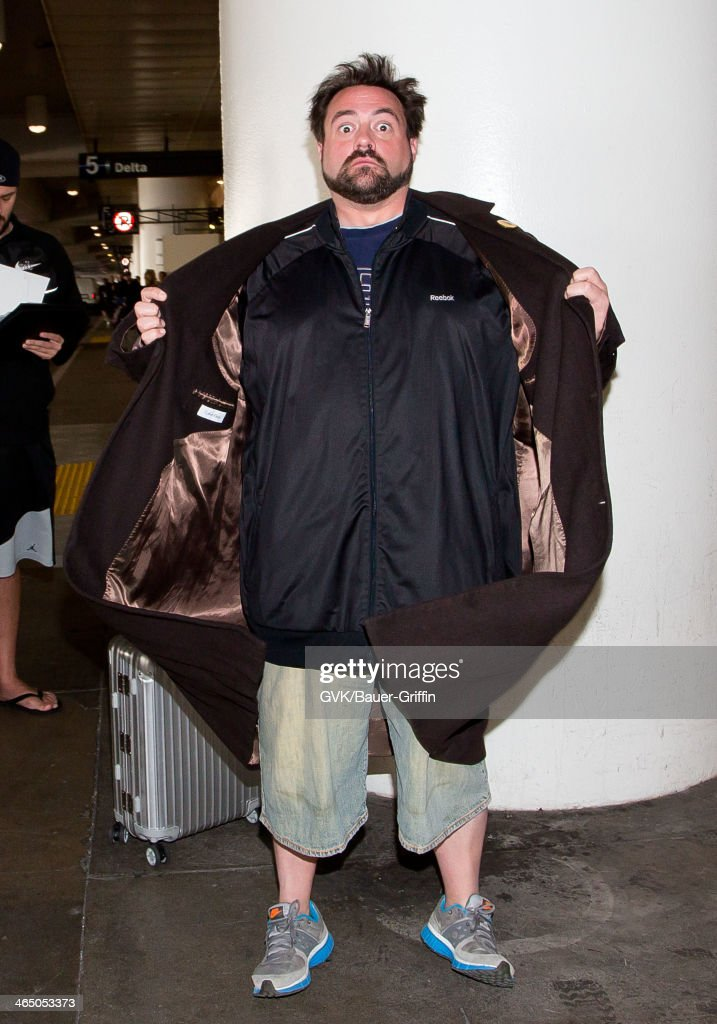 Kevin Smith is seen at LAX airport on January 25, 2014 in Los Angeles, California.