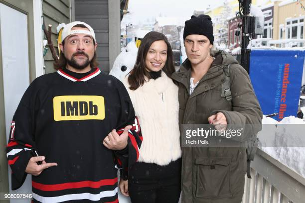 Kevin Smith Jordan Monsanto and Jason Mewes attend The IMDb Studio and The IMDb Show on Location at The Sundance Film Festival on January 20 2018 in...