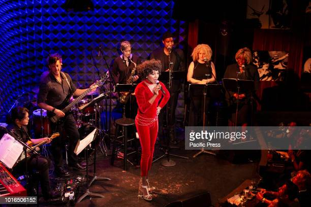 JOE'S PUB AT PUBLIC THEATER NEW YORK UNITED STATES Kevin Smith Kirkwood with band performs during concert 'Classic Whitney Alive'in Joe's Pub at...