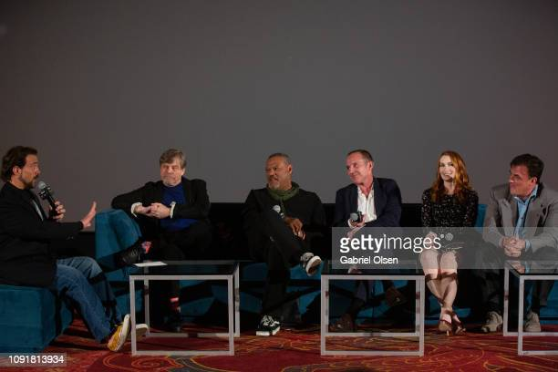 Kevin Smith Mark Hamill Laurence Fishburne Clark Gregg Felicia Day and Tom Desanto attend Excelsior A Celebration of The Amazing Fantastic Incredible...