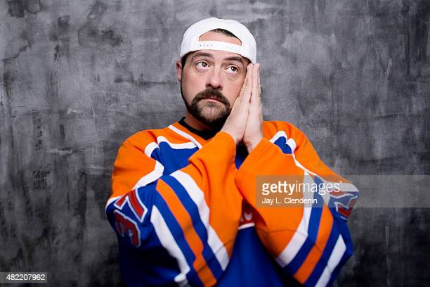 Kevin Smith of 'Comic Book Men' poses for a portrait at ComicCon International 2015 for Los Angeles Times on July 9 2015 in San Diego California...