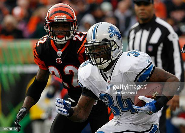 1f7b1cede Kevin Smith of the Detroit Lions breaks free from Johnathan Joseph of the  Cincinnati Bengals in