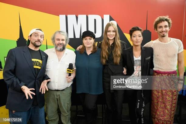 Kevin Smith Peter Jackson Philippa Boyens Hera Hilmar Jihae and Robert Sheehan of 'Mortal Engines' attend IMDb at New York Comic Con Day 1 at Javits...