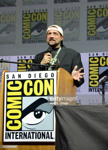 Kevin Smith speaks onstage at 'An Evening with Kevin Smith' during ComicCon International 2018 at San Diego Convention Center on July 21 2018 in San...