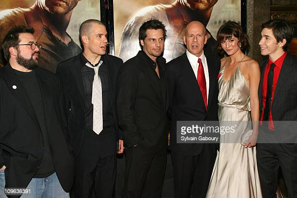 Kevin Smith Timothy Olyphant Len Wiseman Bruce Willis Mary Elizabeth Winstead and Justin Long