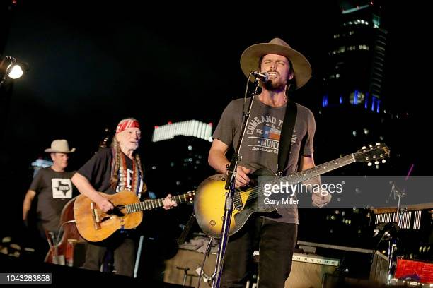Kevin Smith Willie Nelson and Lukas Nelson perform in concert in support of Beto O'Rourke's campaign for US Senate at Auditorium Shores on September...