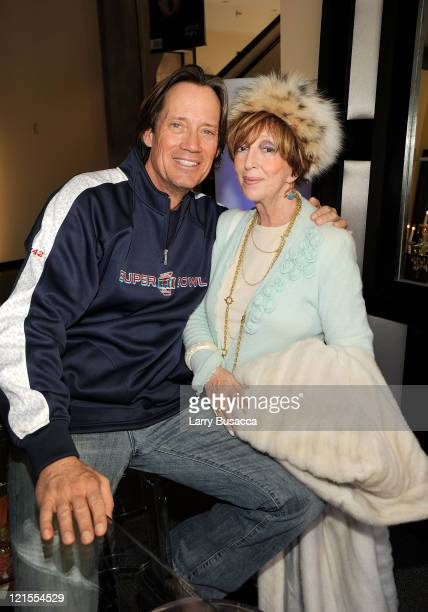 Kevin Sorbo and publisher of Hollywood Life Anne Volokh at the Hollywood Life House Suite on January 16 2009 in Park City Utah