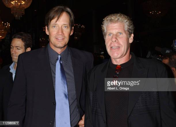 Kevin Sorbo and Ron Perlman during The 30th Annual Saturn Awards Arrivals at Sheraton Universal Hotel in Universal City California United States