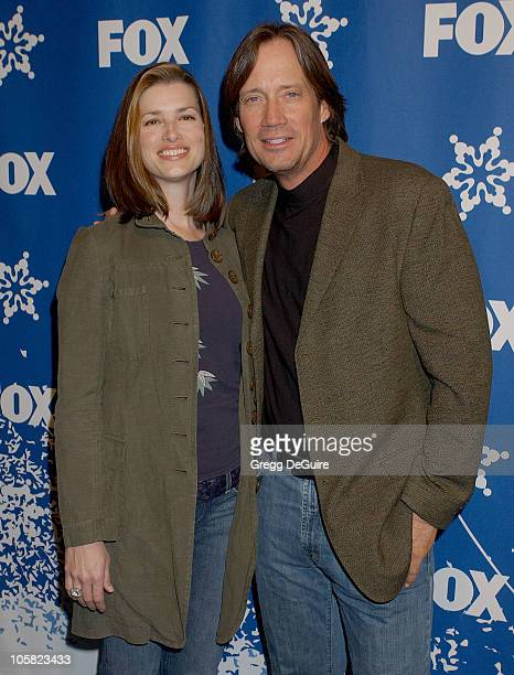 Kevin Sorbo and wife Sam during 2007 Fox AllStar Winter TCA Party Arrivals at Villa Sorriso in Pasadena California United States