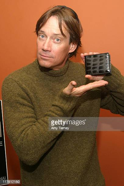 Kevin Sorbo with a Charlie Lapson wallet during Charlie Lapson at the Silver Spoon Hollywood Buffet Day 2 at Hollywood Museum Max Factor Building in...