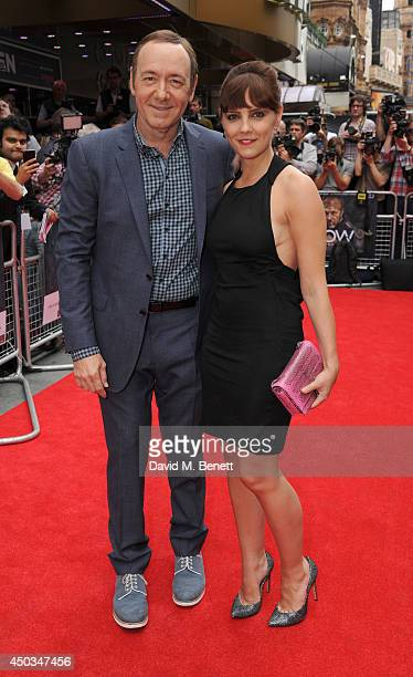 Kevin Spacey and Annabel Scholey attends the UK Premiere of Now at Empire Leicester Square on June 9 2014 in London England
