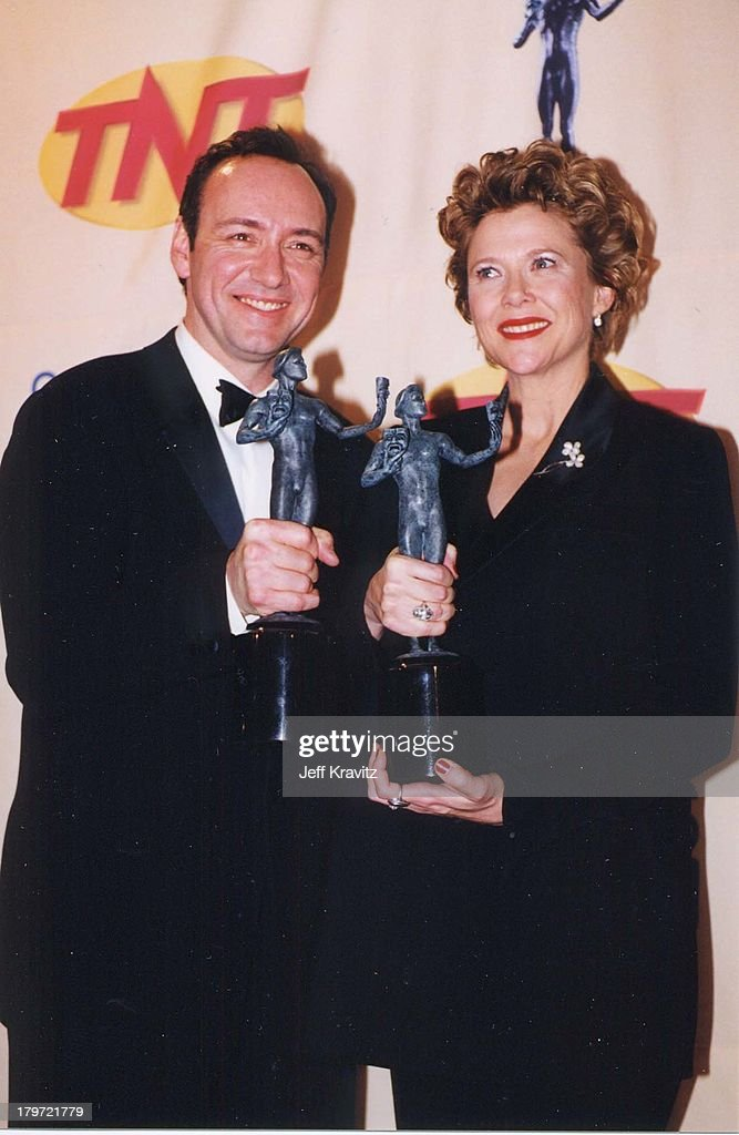 Kevin Spacey and Annette Bening during 6th Annual Screen Actors Guild Awards at Shrine Auditorium in Los Angeles, California, United States.