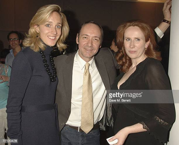 Kevin Spacey and Catherine Tate attend the '24 Hour Plays' gala party at the Riverbank Plaza Hotel after the performance at the Old Vic Theatre on...