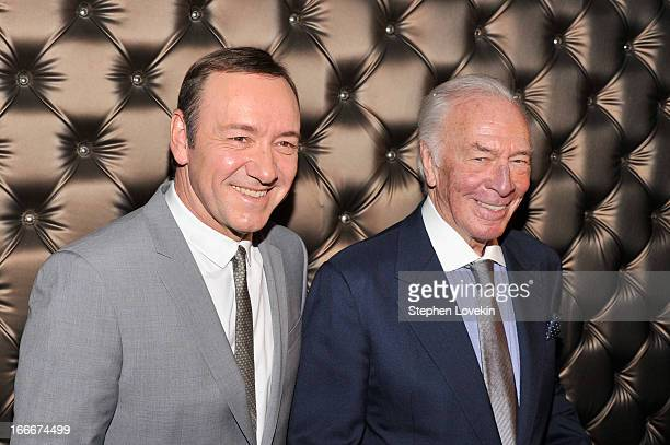 Kevin Spacey and Christopher Plummer attend the 13th annual Monte Cristo Awards at The Edison Ballroom on April 15 2013 in New York City