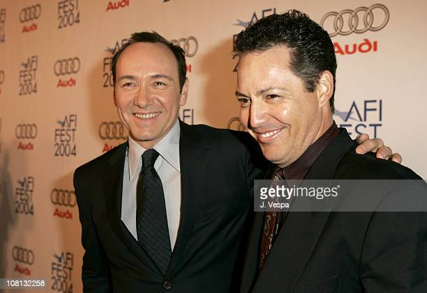 Kevin Spacey and Dodd Darin during 2004 AFI Film Festival Beyond The Sea Premiere Opening Night Gala Red Carpet at Cinerama Dome in Los Angeles...