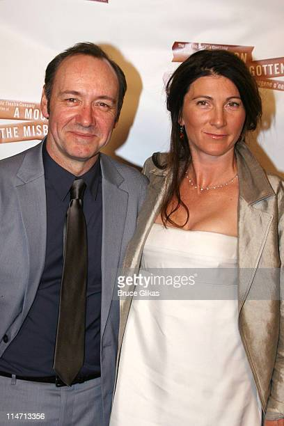Kevin Spacey and Eve Best during Opening Night Curtain Call and Press Room for 'A Moon for the Misbegotten' April 9 2007 at The Brooks Atkinson...