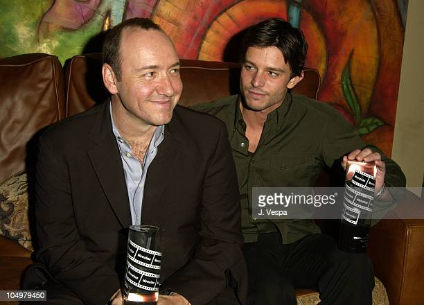 Kevin Spacey and Jason Behr during Movieline's 4th Annual Young Hollywood Awards - Inside at The Highlands in Hollywood, California, United States.