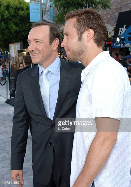 Kevin Spacey and Michael Rosenbaum during World Premiere of 'Superman Returns' Red Carpet at Mann Village and Bruin Theaters in Los Angeles...