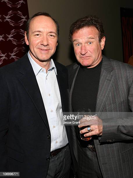 Kevin Spacey and Robin Williams during Kevin Spacey Announces the Launch of the New Triggerstreetcom and Their Latest Venture with Budweiser Select...