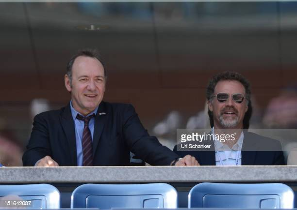 Kevin Spacey and Will Ferrell attend the 2012 US Open at USTA Billie Jean King National Tennis Center on September 9, 2012 in New York City.