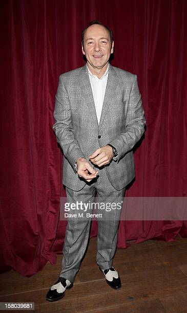 Kevin Spacey Artistic Director of The Old Vic attends an after party celebrating the 24 Hour Musicals Gala Performance at Vinopolis on December 9...