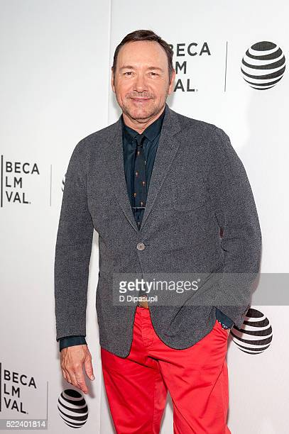 Kevin Spacey attends the 'Elvis Nixon' premiere during the 2016 Tribeca Film Festival at John Zuccotti Theater at BMCC Tribeca Performing Arts Center...
