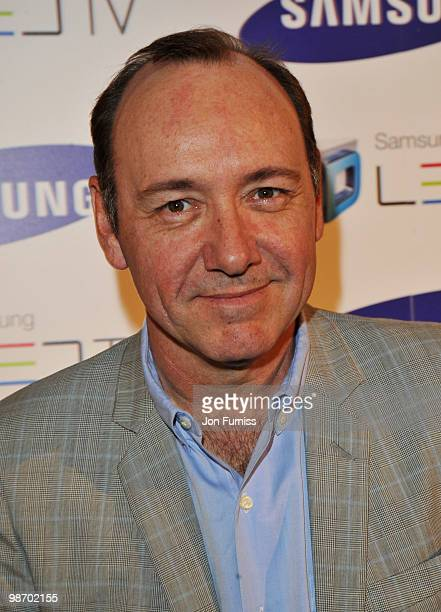 Kevin Spacey attends the launch party for Samsung 3D Television at the Saatchi Gallery on April 27 2010 in London England