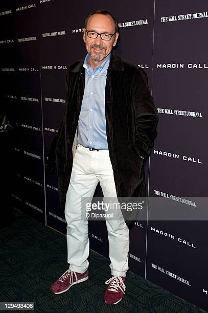 Kevin Spacey attends the 'Margin Call' premiere at the Landmark Sunshine Cinema on October 17 2011 in New York City