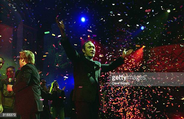 Kevin Spacey attends the Old Vic Theatre Fund Raising Gala Party at Old Billingsgate Market on February 6 2003 in London