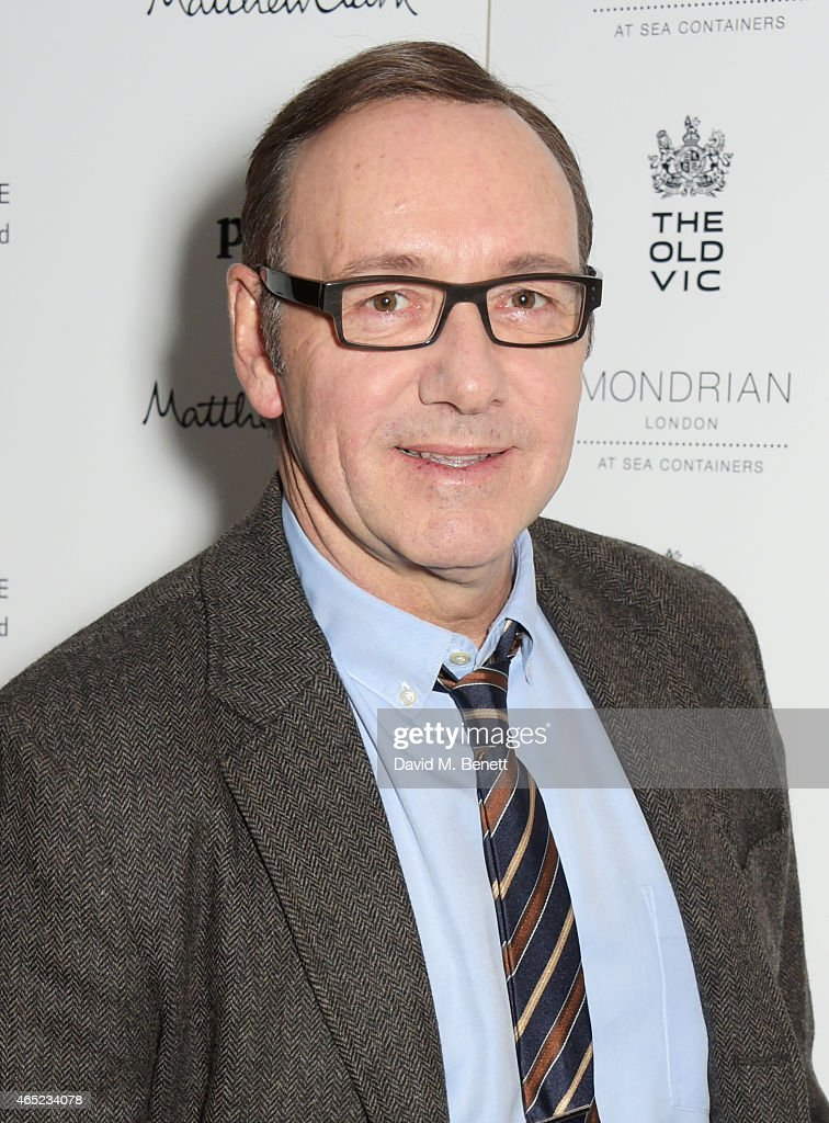 Kevin Spacey attends The Old Vic's Clarence Darrow Guest Night after party at Mondrian London on March 4, 2015 in London, England.