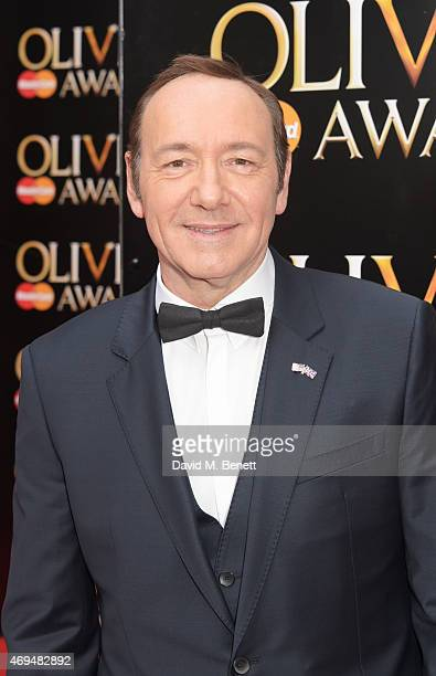 Kevin Spacey attends The Olivier Awards at The Royal Opera House on April 12 2015 in London England