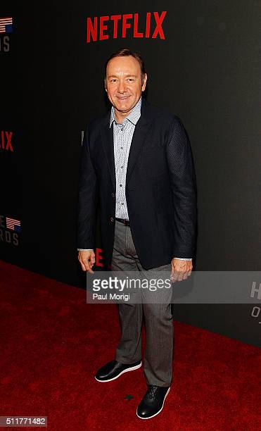 Kevin Spacey attends the portrait unveiling and season 4 premiere of Netflix's 'House Of Cards' at the National Portrait Gallery on February 22 2016...