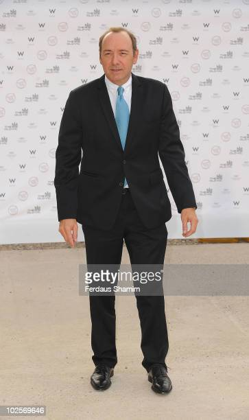 Kevin Spacey attends the Summer fundraising party for The Old Vic Theatre at Battersea Power station on July 1, 2010 in London, England.