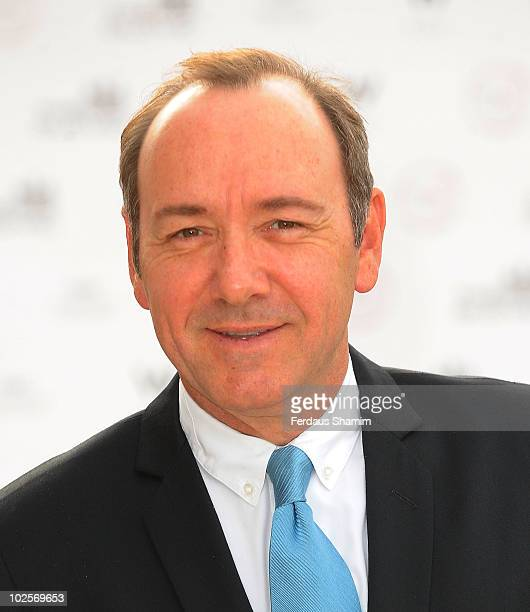 Kevin Spacey attends the Summer fundraising party for The Old Vic Theatre at Battersea Power station on July 1 2010 in London England