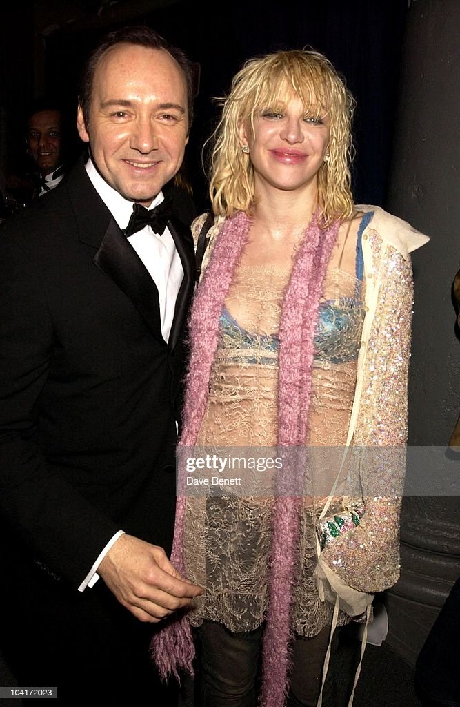 Kevin Spacey & Courtney Love, The Old Vic Theatre Benefit Party Held At The Old Vic Theatre London.