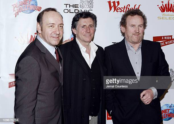 Kevin Spacey Gabriel Byrne and Colm Meaney during Kevin Spacey Hosts The Old Vic Theatre Benefit at Planet Hollywood in New York City April 19 2007...