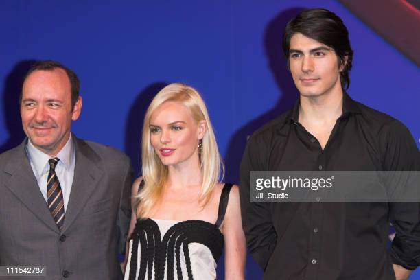 """Kevin Spacey, Kate Bosworth and Brandon Routh during """"Superman Returns"""" Tokyo Press Conference at Grand Hyatt Tokyo in Tokyo, Japan."""