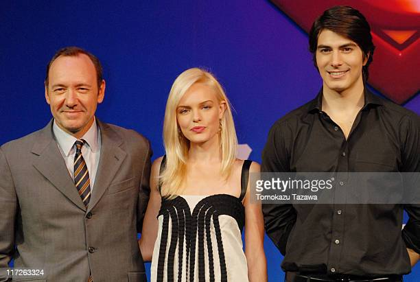 Kevin Spacey Kate Bosworth and Brandon Routh during Superman Returns Tokyo Press Conference at Grand Hyatt Tokyo in Tokyo Japan