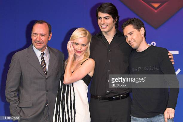 Kevin Spacey Kate Bosworth Brandon Routh and Bryan Singer