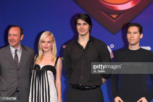 Kevin Spacey, Kate Bosworth, Brandon Routh and Bryan Singer