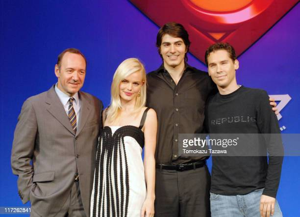 Kevin Spacey Kate BosworthBrandon Routh and Bryan Singer