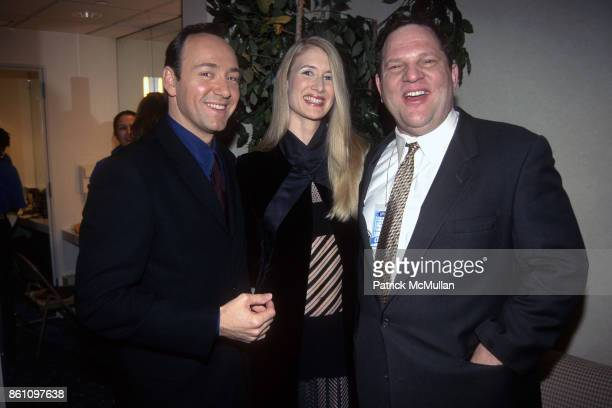 Kevin Spacey Laura Dern and Harvey Weinstein attend the VH1 Fashion Awards at Madison Square Garden on October 24 1996 in New York City