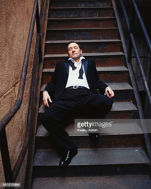 Kevin Spacey on Stairs