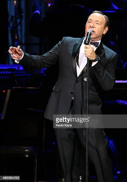 Kevin Spacey performs onstage at The 2014 Revlon Concert For The Rainforest Fund at Carnegie Hall on April 17 2014 in New York City
