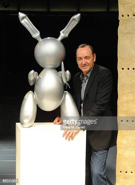 Kevin Spacey poses on stage for a Gala one night only performance at the Old Vic of Drama Queens in which 20th century art works were brought to life...