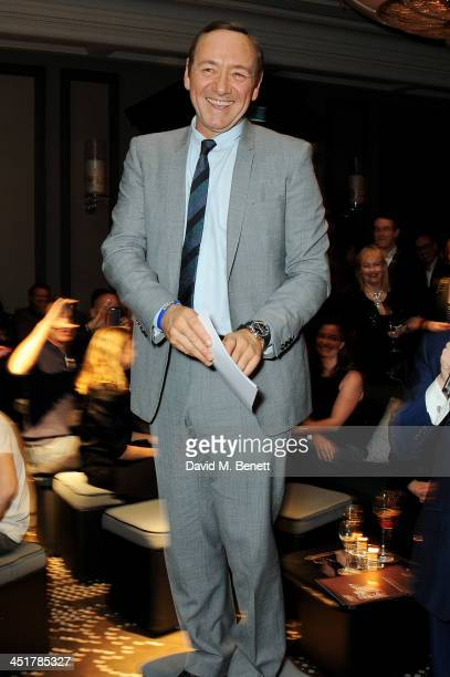 Kevin Spacey speaks at The Old Vic's 24 Hour Celebrity Gala after party at Rosewood London on November 24 2013 in London United Kingdom