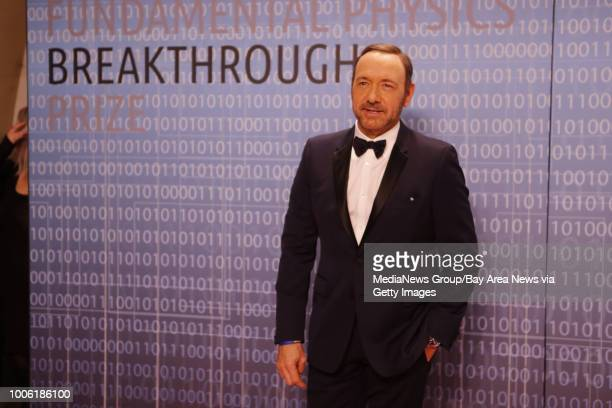 Kevin Spacey the host of the award ceremony arrives on the red carpet at the Breakthrough Prizes an awards ceremony that's been likened to the...