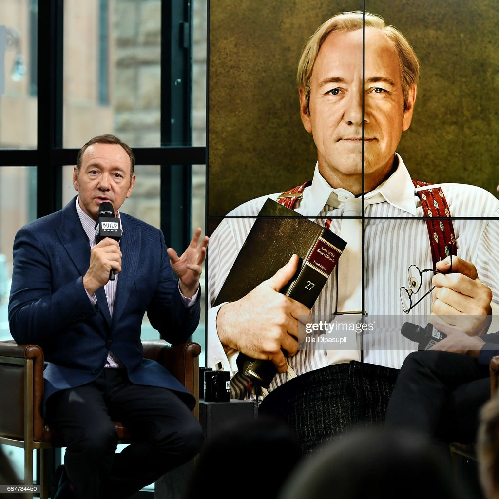 Kevin Spacey visits the Build Series to discuss his new play 'Clarence Darrow' at Build Studio on May 24, 2017 in New York City.